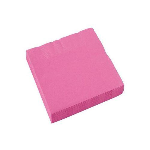 Serwetki różowe - 25 cm - 20 szt. (0013051397920)