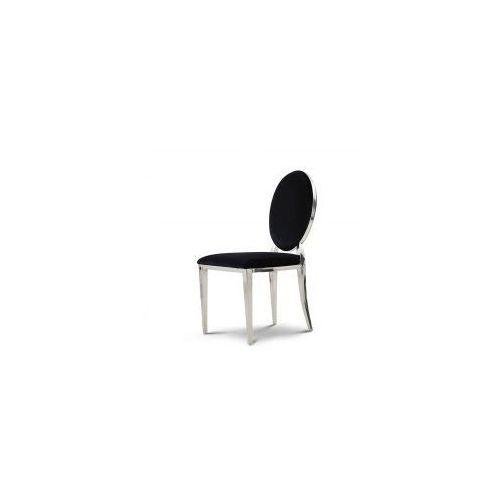 Bellacasa Krzesło ludwik glamour black - nowoczesne krzesło tapicerowane (5908273392806)