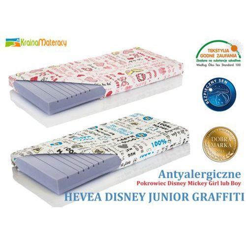 Materac wysokoelastyczny  disney junior graffiti 200x90 + poduszka 45x45 gratis!! marki Hevea