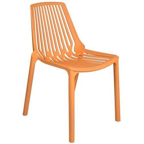 Krzesło Tulon Pomarańczowe, kolor pomarańczowy