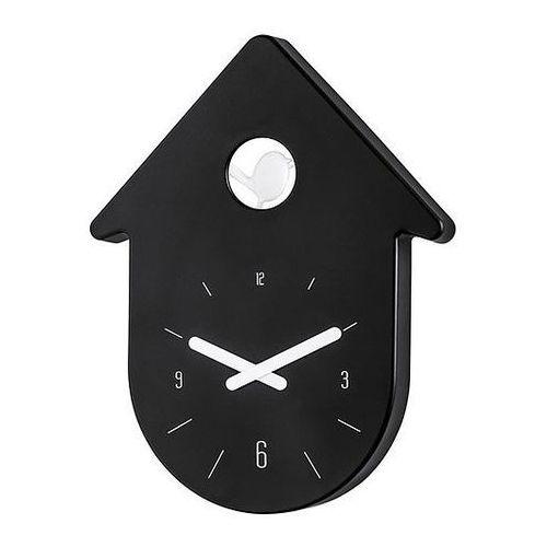 Zegar ścienny Toc Toc czarny, kolor czarny