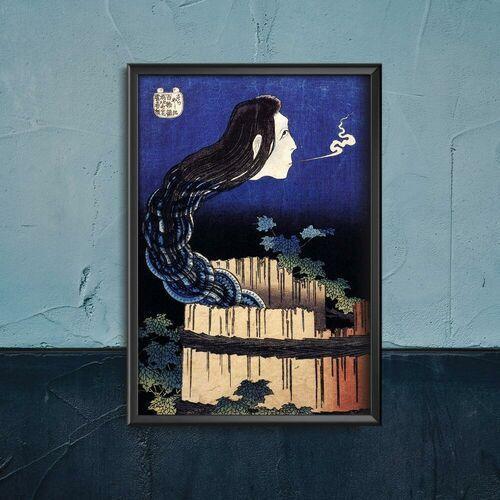 Vintageposteria.pl Plakat w stylu vintage plakat w stylu vintage abstrakcja z talerzy hokusai ukiyo-e