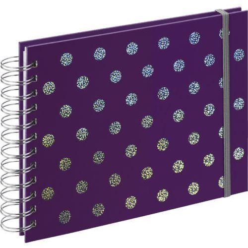 Album spiralny twinkle, 24x17 cm, 50 białych stron, purpurowy marki Hama