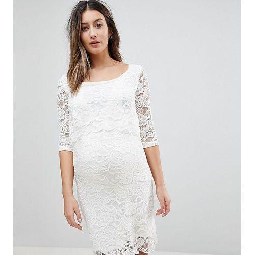 Mamalicious Nursing Lace Dress - White