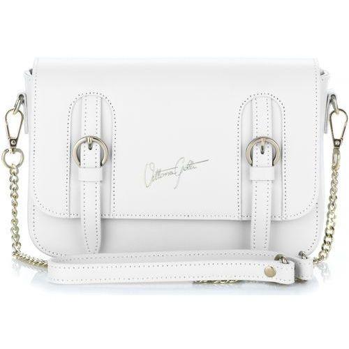 Ekskluzywne Torebki Skórzane Listonoszki renomowanej firmy Vittoria Gotti Made in Italy Białe (kolory)