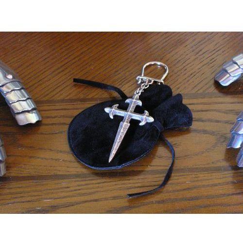 Płatnerze hiszpańscy Unikatowy srebrny brelok z krzyżem templariuszy (agkr/13.01)