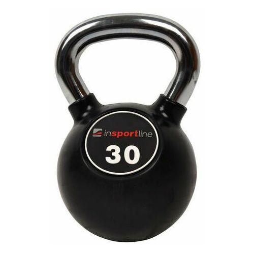 Insportline Hantla ogumowana kettlebell 30kg  - 30 kg