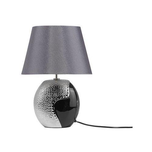 lampa stojąca czarna oraz srebrna - ARGUN (7105276129721)