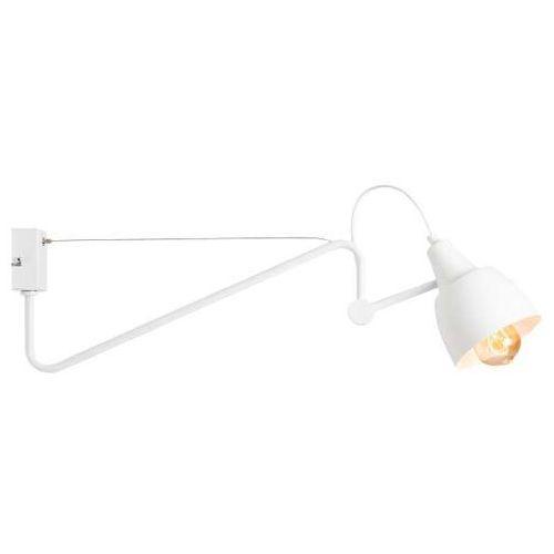 Kinkiet lampa ścienna adx 1031c metalowa oprawa regulowana na wysięgniku biała marki Mlamp