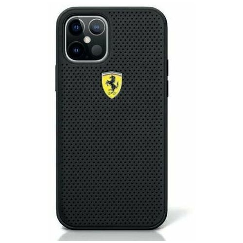 Ferrari FESPEHCP12SBK iPhone 12 mini czarny/black hardcase On Track Perforated, kolor czarny