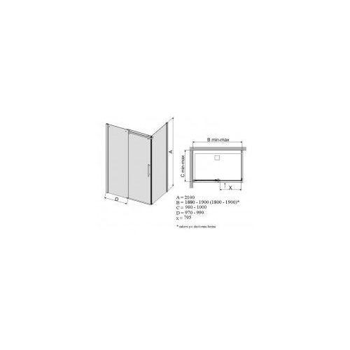 Sanplast Altus 100 x 190 (600-121-1080-42-491)