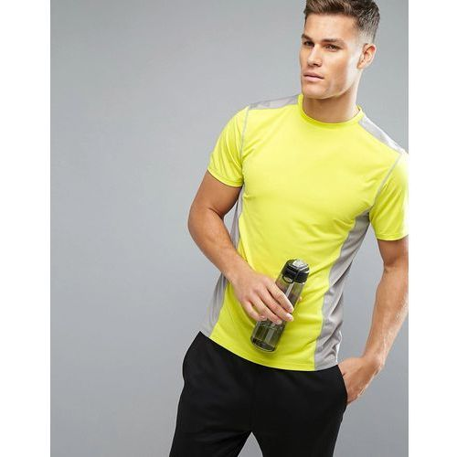 New Look SPORT T-Shirt In Grey And Yellow - Yellow