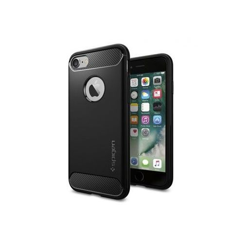 Apple iPhone 7 - etui na telefon Spigen Rugged Armor - Black, kolor czarny