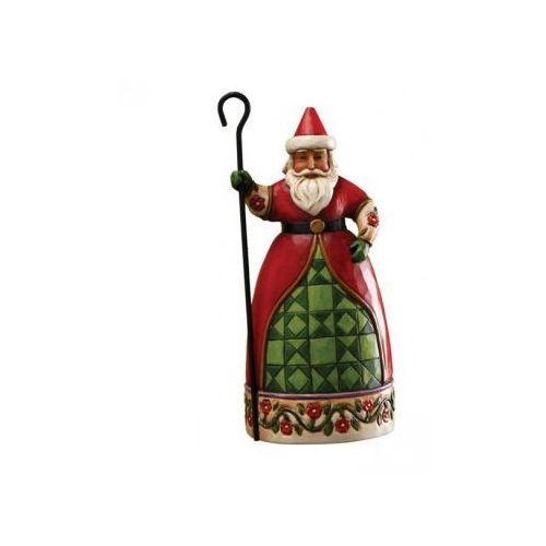 Jim shore Mikołaj świąteczny, (santa with cane figurine), 4017601e figurka ozdoba świąteczna