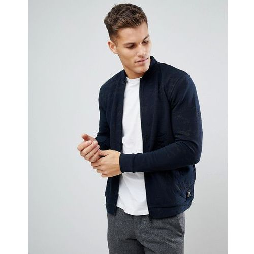 bomber jacket with textured marble design - navy, Tom tailor