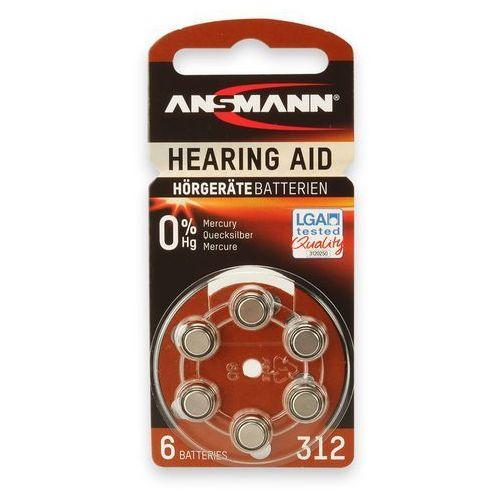 Ansmann Bateria hearing aid 312 (6 szt.) (4013674013234)