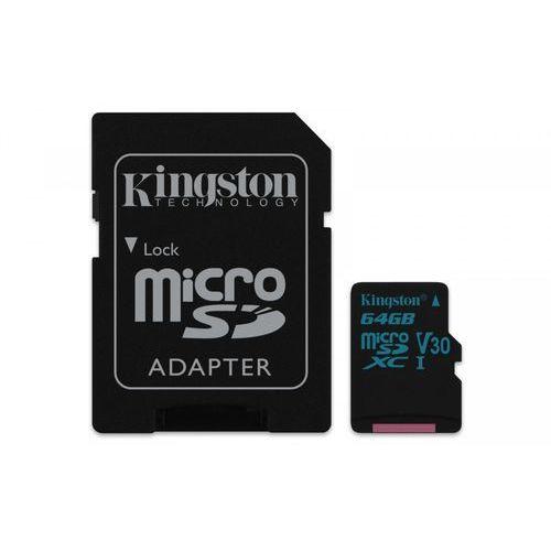 Kingston microSD 64GB Canvas Go 90/45MB/s UHS-I V30 + adapter, 1_628091