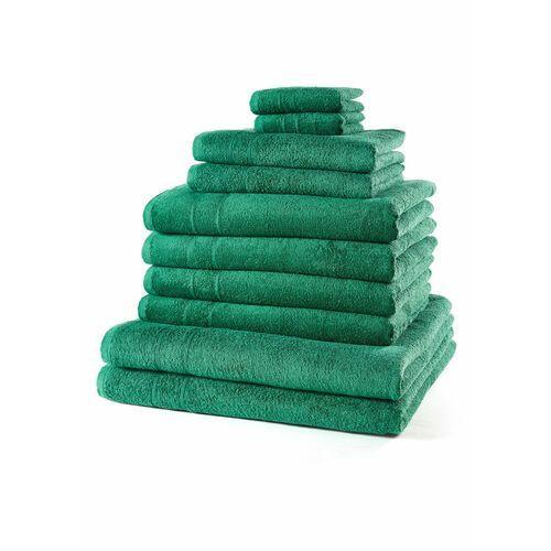 Komplet ręczników (10 części) bonprix zielony