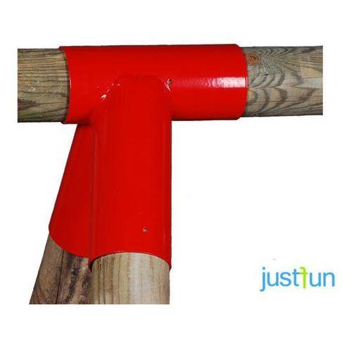 Łącznik do belki Ø100 mm, 100° - czerwony - produkt z kategorii- Place zabaw