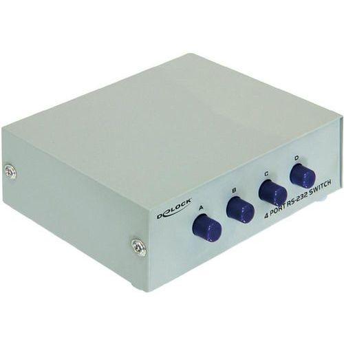 Delock Video Splitter RS-232 4 porty (87589) Darmowy odbiór w 20 miastach! (4043619875894)