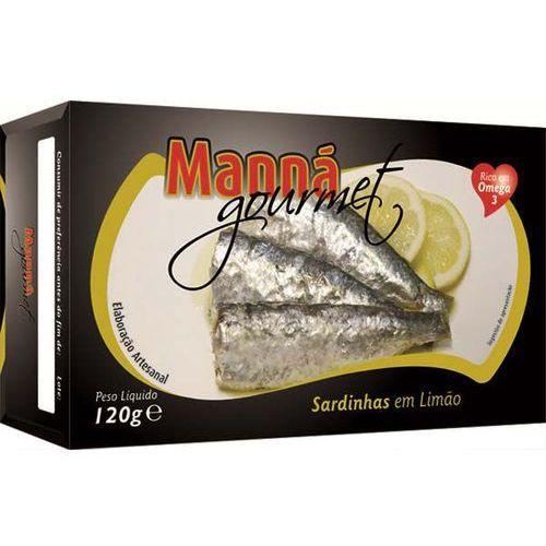 Manná gourmet Sardynki portugalskie z cytryną 120g  (5601721110198)