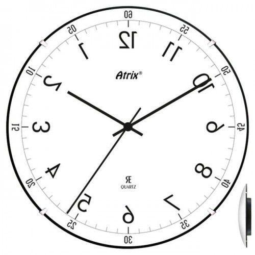 Zegar chodzący do tyłu convex #2 lustro, AC2030_2L