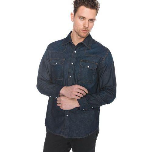 Calvin klein western koszula niebieski s