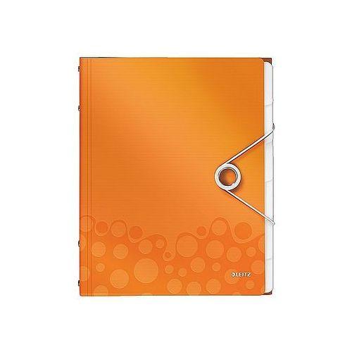 Teczka segregująca wow, 6 przekładek metaliczna pomarańczowa 46330044 marki Leitz