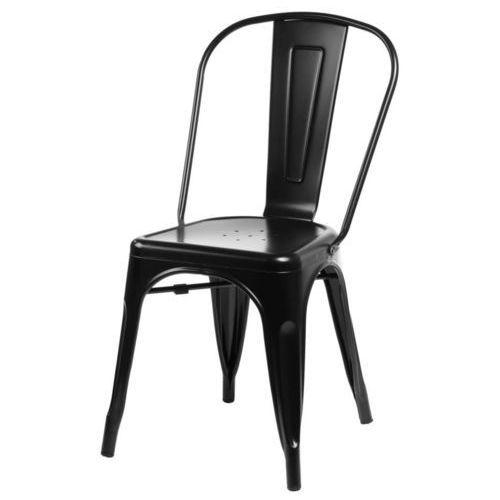 Krzesło Paris inspirowane Tolix - czarny, D202