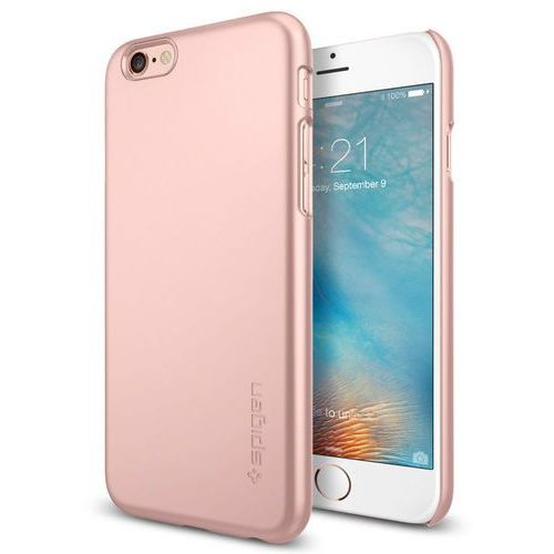 Etui SPIGEN iPhone 6S Case Thin Fit Gold Rose (Metalic Pink) SGP11766, SGP11766