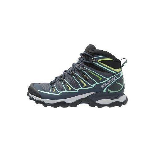 Salomon XULTRA 2 GTX Buty trekkingowe grey denim/deep blue/lucite green, L37152400