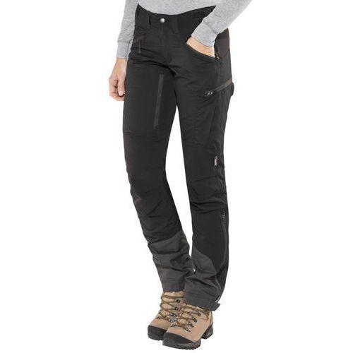 makke spodnie długie kobiety czarny 44-krótkie 2018 spodnie turystyczne marki Lundhags