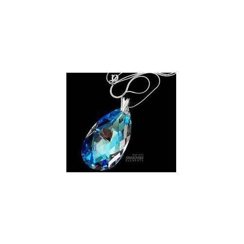 SWAROVSKI wisiorek+łańcuszek 50MM BLUE AURORA