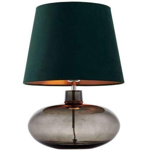 Kaspa Abażurowa lampka stojąca sawa velvet 41015113 szklana lampa stołowa abażurowa miedź grafitowa zielona (1000000567199)
