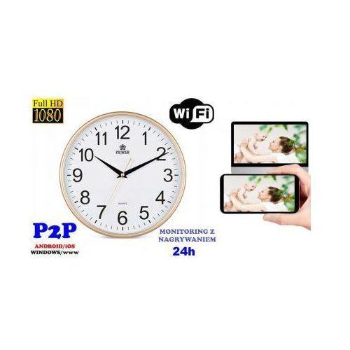Spy Szpiegowska kamera full hd wifi/p2p (zasięg cały świat!) ukryta w zegarze ściennym + zapis +...