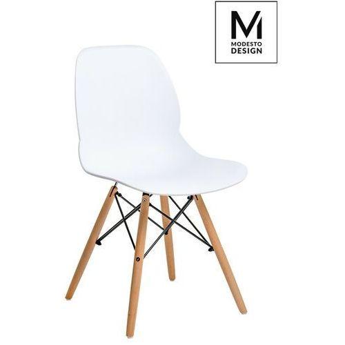 Sofa.pl Modesto krzesło leaf wood białe - polipropylen, podstawa bukowa