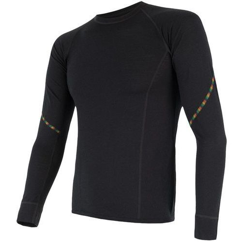 Sensor koszulka termoaktywna z długim rękawem merino air m black xxl
