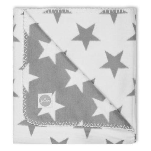 Jollein - koc ciepły, bawełniany little star szary 75x100cm (8717329316577)