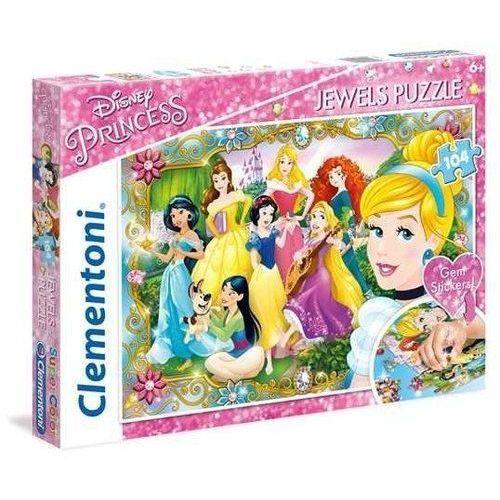 Clementoni 104 elementy księżniczki disneya, puzzle z ozdobami (8005125201471)
