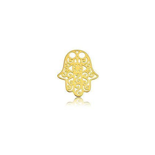 Blaszka Celebrytka Ręka Fatimy - ażurowa, złoto próba 585