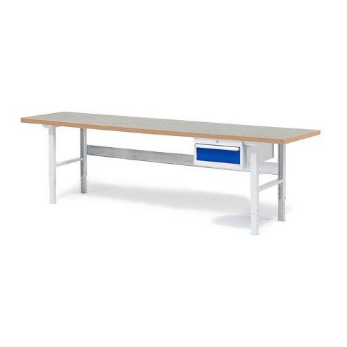Stół warsztatowy solid, z szufladą, 500 kg, 2500x800 mm, winyl marki Aj produkty