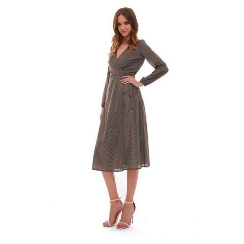 Sugarfree Sukienka marion khaki w kropki