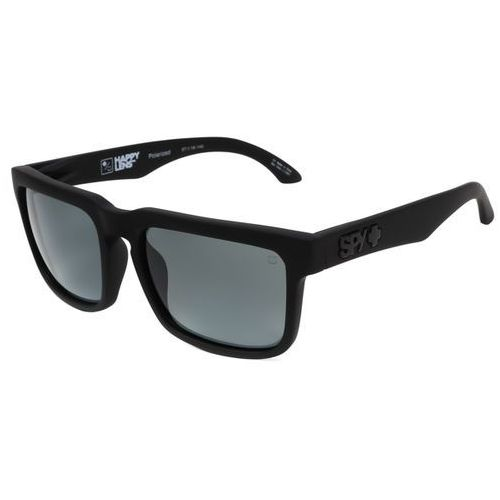 Okulary Słoneczne Spy HELM Polarized SOFT MATTE BLACK - HAPPY GRAY GREEN POLAR, kolor zielony