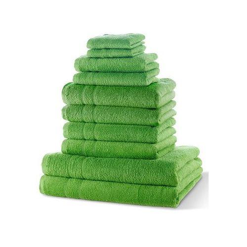 """Komplet ręczników """"New Uni"""" (10 części) bonprix zielone jabłuszko"""