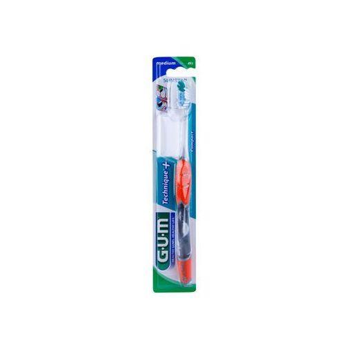 technique+ compact szczoteczka do zębów z krótką główką medium + do każdego zamówienia upominek. marki G.u.m
