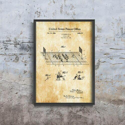Plakat w stylu retro Plakat w stylu retro Piłka nożna Rubino Patent USA