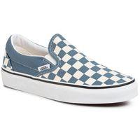 Tenisówki - classic slip-on vn0a4u38wru1 (checkerboard) blmirgtrwht, Vans, 35-47