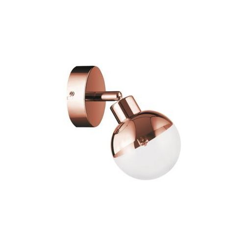 Britop - % Kinkiet lampa ścienna ginos 2506113 britop regulowana oprawa kula ball miedziana przezroczysta (5902166903124)