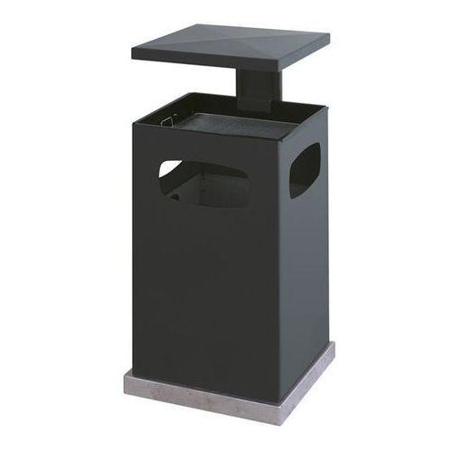 Pojemnik na odpady do ustawienia na zewnątrz, z wkładaną popielniczką i daszkiem marki Vepa bins