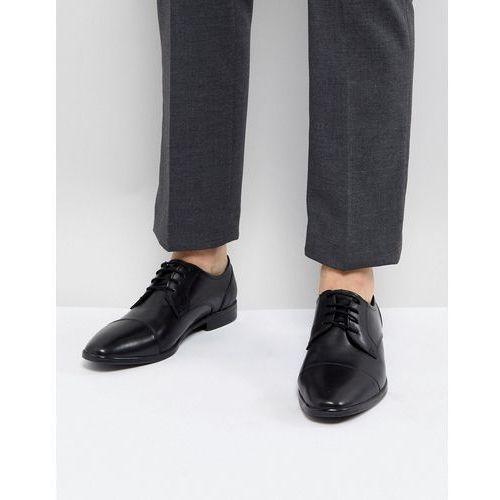 leather smart toe cap shoes in black - black, Pier one